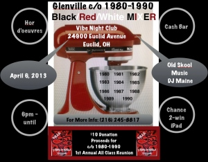 Glenville Black/Red/White Mixer April 6, 2013