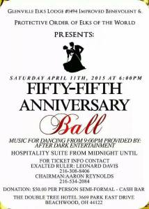 Glenville Elks Lodge #1494 - 55th Anniversary Ball